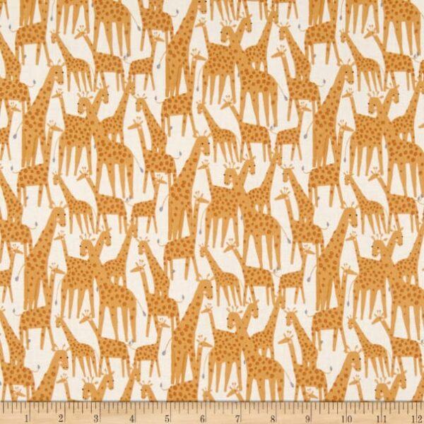 Born to be Wild - Giraffe - white Fabric
