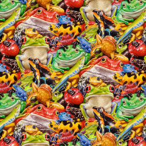 Frogs Fabric