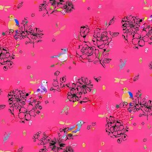 Bird Floral - Multi Fabric
