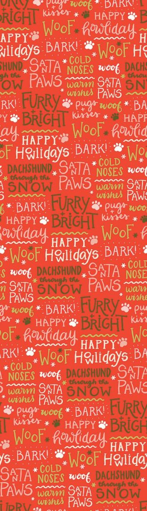 Happy Howlidays - Words Fabric