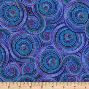 Fly by Night - Swirls Fabric