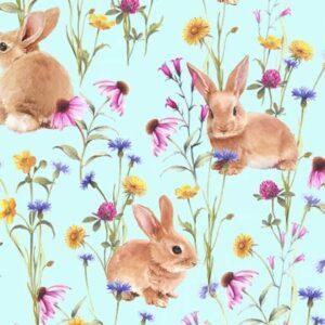 Hippity Hop - Sea Glass - Minkey Fabric