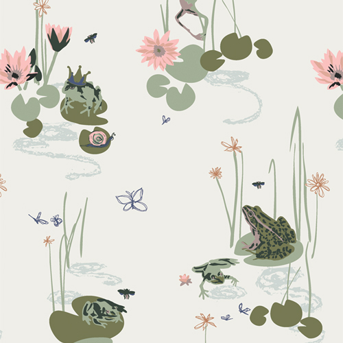 Bog Party Fabric