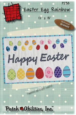 Easter Egg Rainbow Pattern Fabric