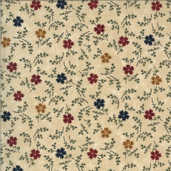 Bittersweet Lane - Tan Floral Fabric