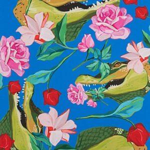 Grins & Roses Alligator Fabric