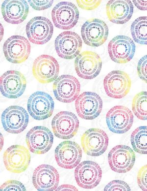 Circle Burst White/Multi Fabric