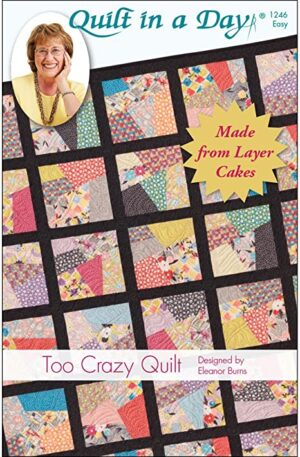 Too Crazy Quilt Pattern Fabric
