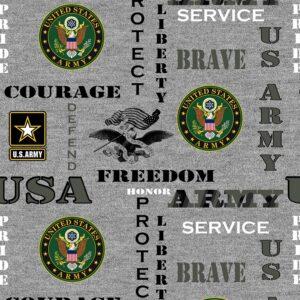 Military Army Logo Fabric