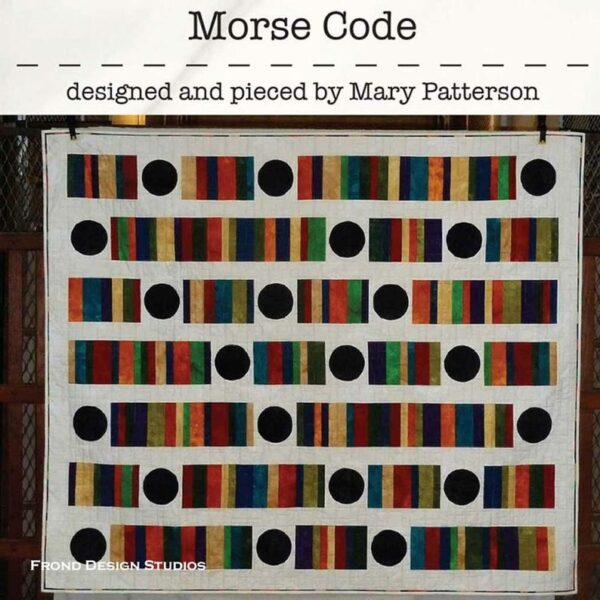 Morse Code Pattern Fabric