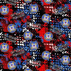 Military Coast Guard Logo Fabric