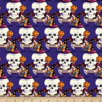 skeleton Halloween fabric