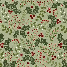 Jingle Bell - Holly Daze - Light Green Fabric