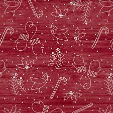 Jingle Bell - Whimsical Winter - Red Fabric