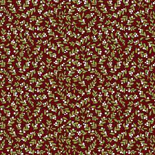 Jingle Bell - Crossroads Berry - Red Fabric