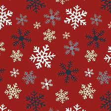 Jingle Bell - Crossroads Multi Snowflake - Red Fabric