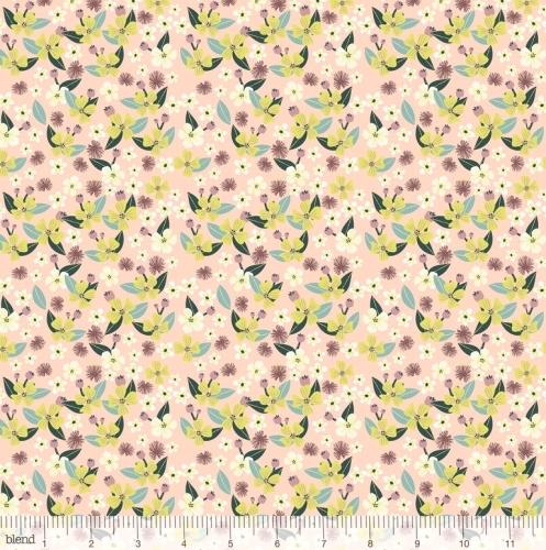 Junglemania - Flowers on Pink fabric