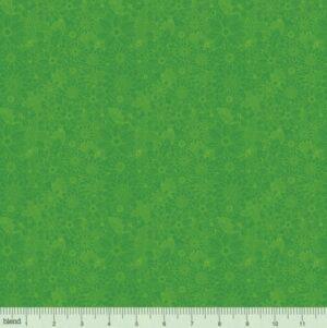 Tone on Tone Flowers - Green Fabric