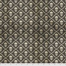 Crossbones Halloween Fabric - Black