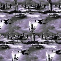 Hocus Pocus - Cemetery Scene Fabrics - Glow in the Dark
