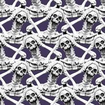 Hocus Pocus - Screaming Skeleton Fabrics - Glow in the Dark