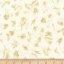 Sound of the Woods - Gold Leaves Fabric
