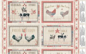 Farmhouse Chic - Placemat Panel Quilt Fabric