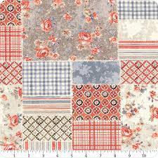 Farmhouse Chic - Multi Patchwork Quilt Fabric