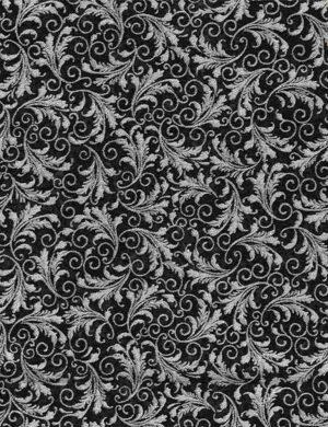 Tonal Filagree - Silver Fabric