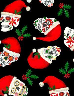 Christmas Sugar Skulls Fabric