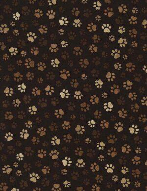 Paw Print - Mud Fabric