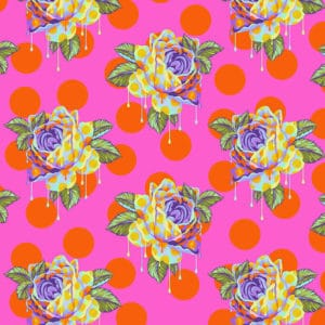Painted Roses - Daydream Fabric