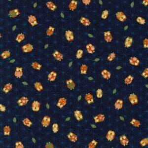 Sevenberry - Owls - Blue Fabric