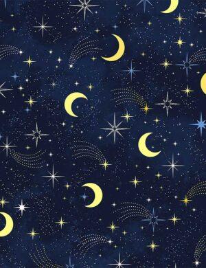 Moons & Shooting Stars Fabric
