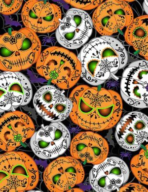 Scary Pumpkins - Glow in the Dark Fabric