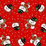Corn Cob Snowmen - Red Fabric