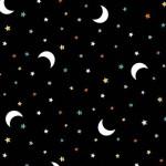 Boo Moon Black Fabric