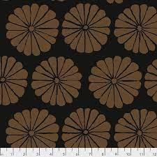 Damask Flower - Brown Fabric