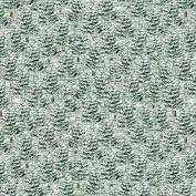 Joyful Tidings - Snowy Pine Trees - Green Fabric