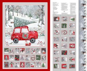 Joyful Tidings - Advent Calendar Panel Fabric
