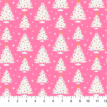 Christmas Tree Peppermint White Pink