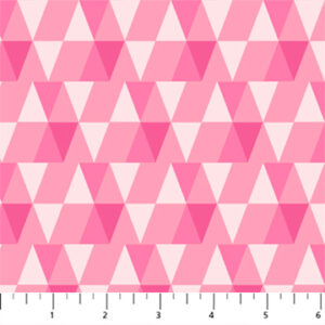 white and pink triangle fabric