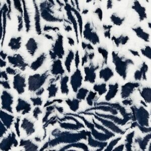 Luxe Cuddle - Exotic - Navy/Snow Fabric