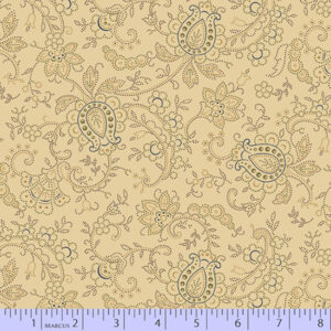 Country Meadow - Beige Paisley Fabric