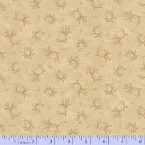 Country Meadow - Beige Circle Floral Fabric