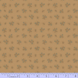 Country Meadow - Beige with Blue Flowers Fabric