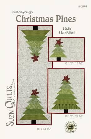 Christmas Pines Pattern Fabric