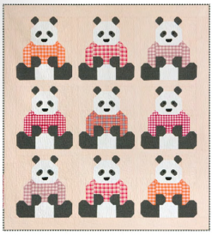 panda bear quilt fabric
