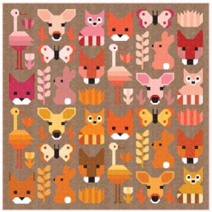 Multicolored Animal Quilt Fabric
