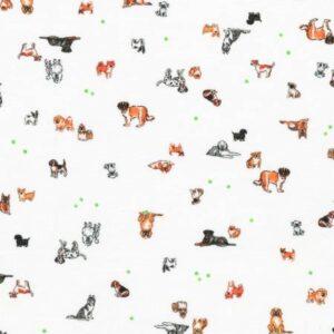 Wishwell Petit - Dogs White Fabric